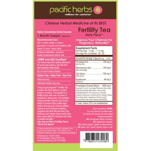 Acu-Market - Fertility Tea Herb Pack 3 5 oz  (100g), Pacific Herbs