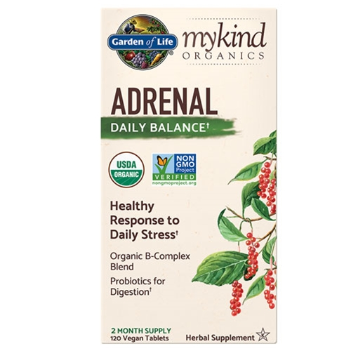 Garden of Life mykind Organics Adrenal Daily Balance 120 tabs by GoL