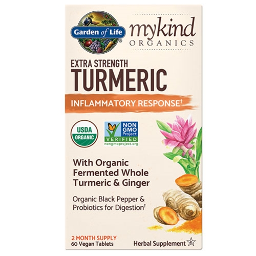 Garden of Life Herbals mykind Organics Extra Strength Turmeric 60 tabs by GoL