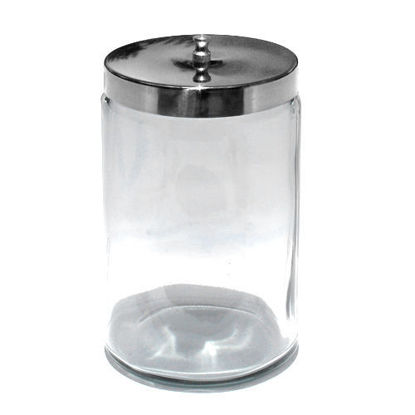"Picture of Glass Applicator Jar, 6.75"" H x 3"" dia."