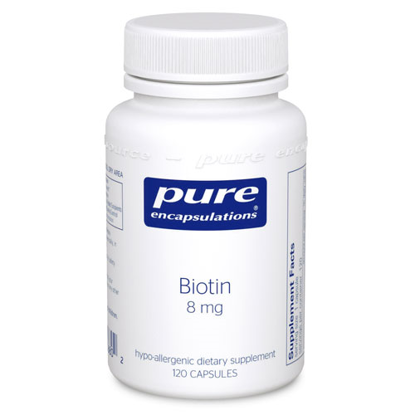 Picture of Biotin 120's, Pure Encapsulations 8mg.