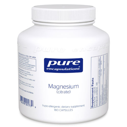 Picture of Magnesium (citrate) 180's, Pure Encapsulations