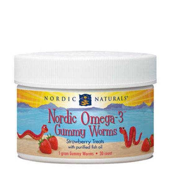Picture of Omega 3 Gummy Worms 30's, Nordic Naturals