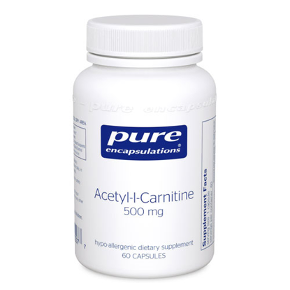 Picture of Acetyl I Carnitine 60's, Pure Encapsulations 500mg.