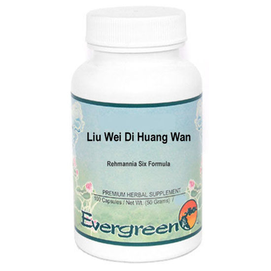 Picture of Liu Wei Di Huang Wan Evergreen Capsules 100's