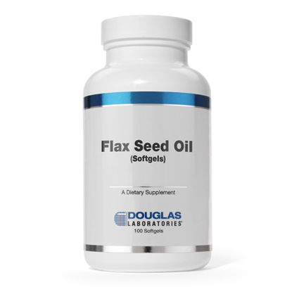Picture of Flax Seed Oil (1000 mg) 100 Softgels, Douglas Laboratories