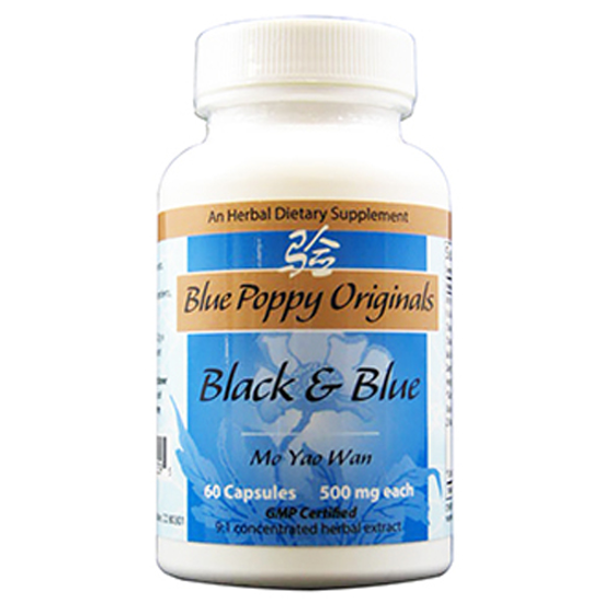 Picture of Black & Blue Caps 60's, Blue Poppy