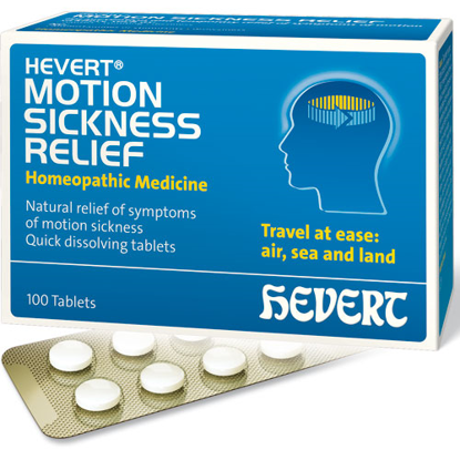 Picture of Motion Sickness Relief 100 tabs, Hevert Pharmaceuticals