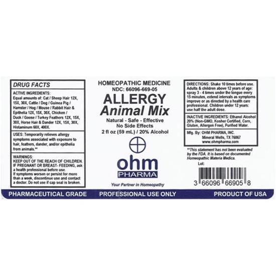 Picture of Allergy Animal Mix 2 oz. Spray, Ohm Pharma