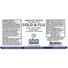 Picture of Cold & Flu 2 oz. Spray, Ohm Pharma