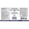 Picture of Kali Iodatum 1X 1 oz. Dropper, Ohm Pharma