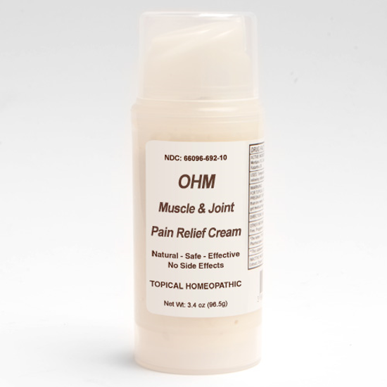 Picture of Muscle & Joint Pain Relief Cream 3.4 oz. pump, Ohm Pharma