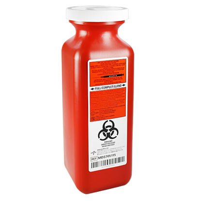 Picture of Sharps (1.5)  Quart Needle Disposal Container