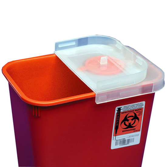 Picture of Sharps (2) Gallon (Rotor Lid) Needle Disposal Container