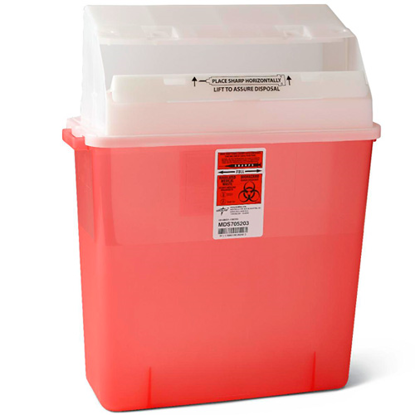 Picture of Sharps (3) Gallon Translucent Needle Disposal Container