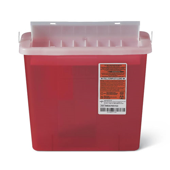 Picture of Sharps (5) Quart (Red) Wall Mount Sharps Container