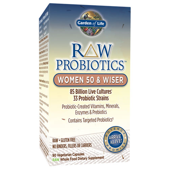 Picture of Raw Probiotics Women 50 & Wiser 90 Caps by Garden of LIfe