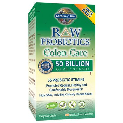 Picture of Raw Probiotics Colon Care 30 Caps by Garden of Life