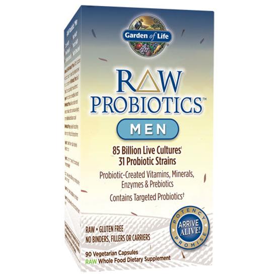 Picture of Raw Probiotics Men's 90 Caps by Garden of Life