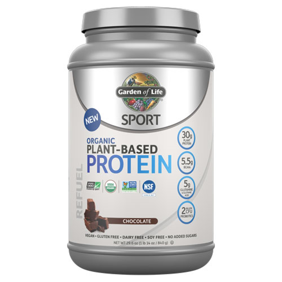 Picture of Sport Organic Protein (Chocolate) 840g by Garden of Life