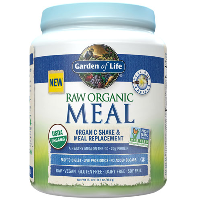 Picture of Raw Organic Meal (Vanilla) 484g by Garden of Life