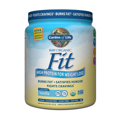 Picture of Raw Fit Organic (Vanilla) 457g by Garden of Life