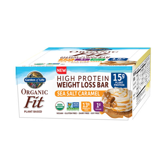 Picture of Organic Fit Weight Loss Bar (Salted Caramel Chc) 12ct by GoL