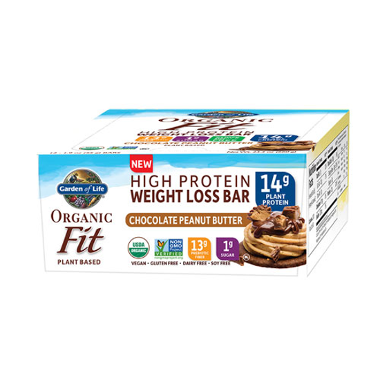 Picture of Organic Fit Weight Loss Bar (Peanut Butter Choc) 12ct by GoL