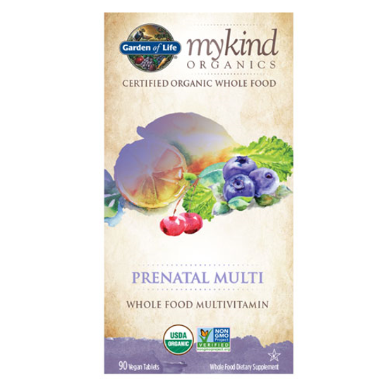 Picture of mykind Organics Prenatal 90 Tabs by Garden of Life