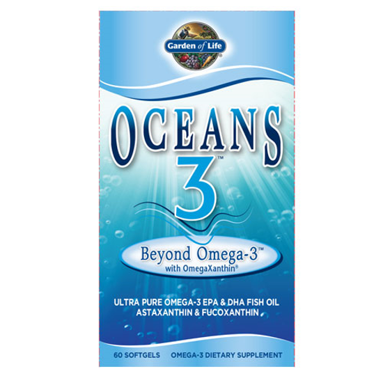 Picture of Oceans 3 Beyond Omega-3 60 Soft Gels by Garden of Life