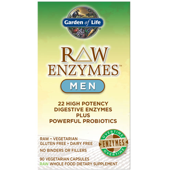 Picture of Raw Enzymes Men 90 Caps by Garden of Life