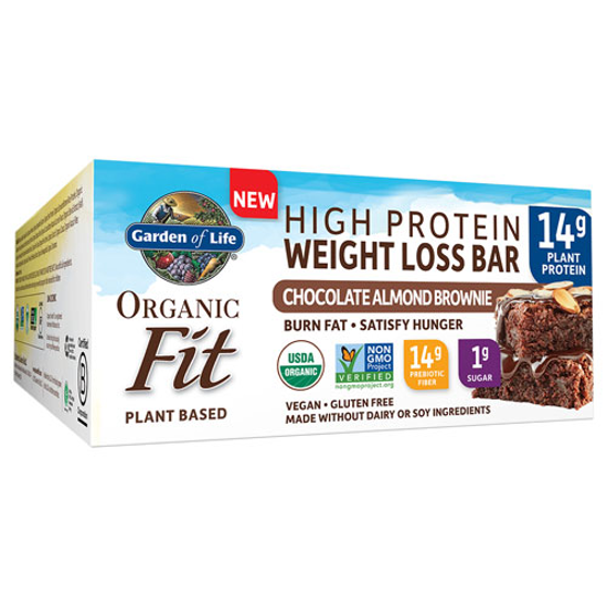 Picture of Organic Fit Weight Loss Bar (Choc. Alm. Brownie) 12ct by GoL