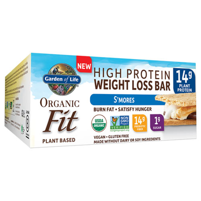 Picture of Organic Fit Weight Loss Bar (S'mores) 12ct by Garden of Life