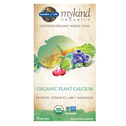 Picture of mykind Organics Calcium 90 Tablets by Garden of Life