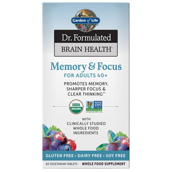 Picture of Dr. Formulated Brain Health Org. Memory/Focus 40+ (60ct) GoL