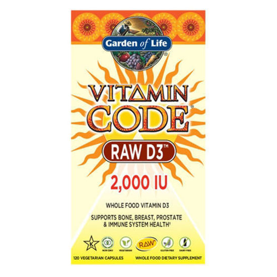 Picture of Vitamin Code Raw D3 (2000) 120 Caps by Garden of Life