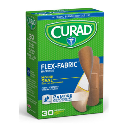 Picture of Curad Flex Fabric Adhesive Bandages 30 Count