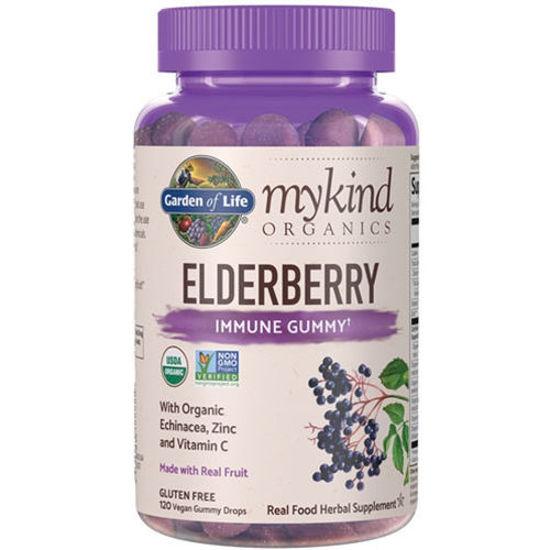 Picture of mykind Organics Elderberry 120 Gummies by Garden of Life