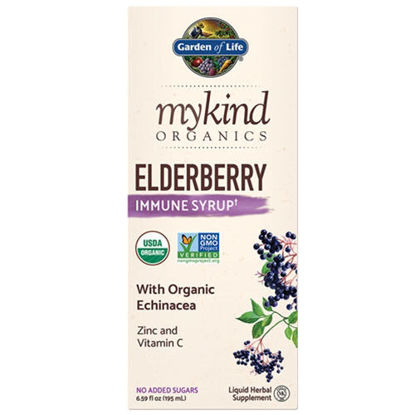 Picture of mykind Organics Elderberry Syrup 6.6 oz. by Garden of Life