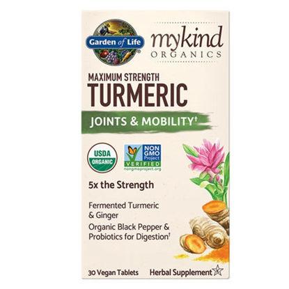 Picture of mykind Organics Maximum Strength Turmeric 30 tabs by GoL