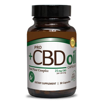 Picture of ProCBD Oil 25mg Capsules 30ct