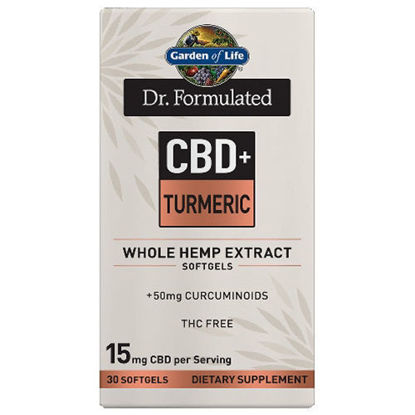 Picture of Dr. Formulated CBD+ Turmeric Softgels (15mg) 30ct by GoL
