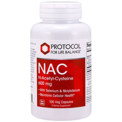 Picture of NAC (N-Acetyl Cysteine) (600mg) Plus 100 caps by Protocol
