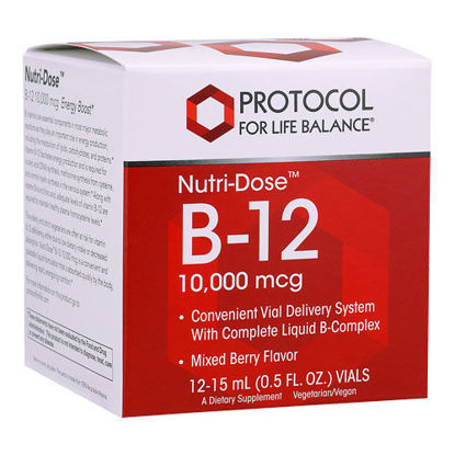 Picture of Nutridose B12 (10,000 mcg) 15 ml. 12 pack by Protocol