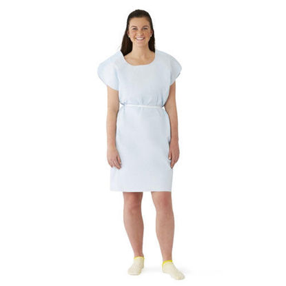 Picture of Exam Gown Premiun Light Blue Paper Disposable