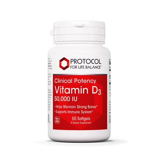 Picture of Vitamin D3 (50,000 iu) 50 softgels by Protocol