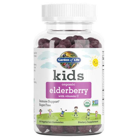 Picture of Kids Organic Elderberry 60 Gummies by Garden of Life