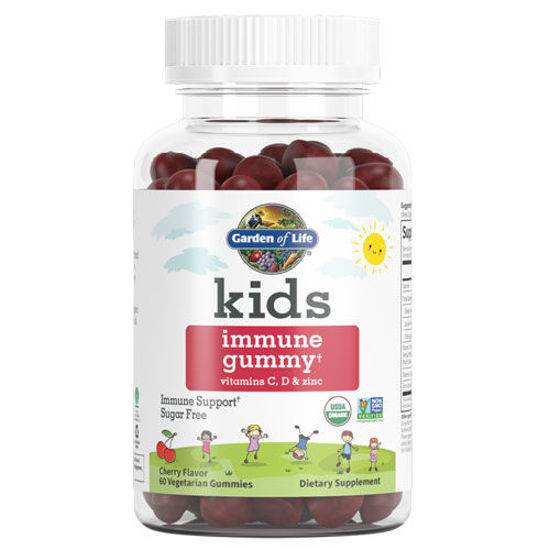 Picture of Kids Organic Immune (Cherry) 60 Gummies by Garden of Life