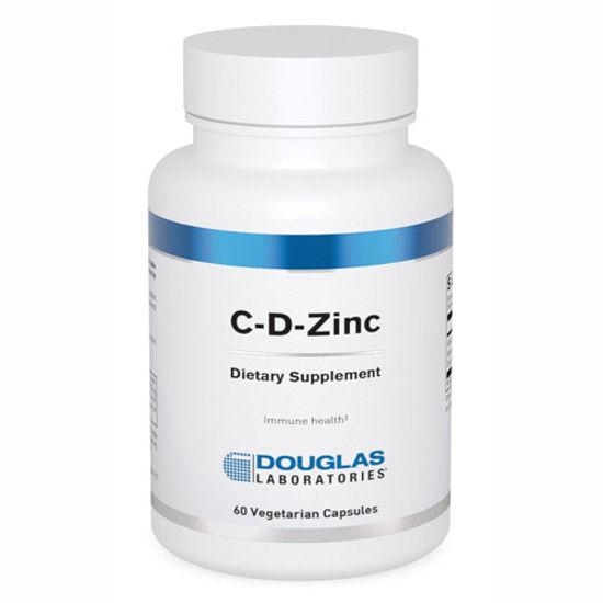 Picture of C-D-Zinc 60 caps by Douglas Laboratories