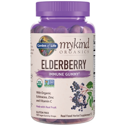 Garden of Life Herbals mykind Organics Elderberry 120 Gummies by Garden of Life